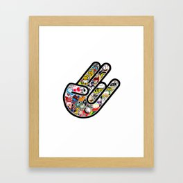 Shocker Stickerbomb Framed Art Print