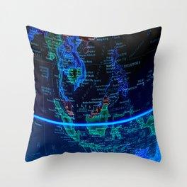Southeast Asia Throw Pillow