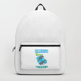 The great hammerhead shark Tee makes a great gift for shark lover Tee Design Hammerhead Shark Circle Backpack