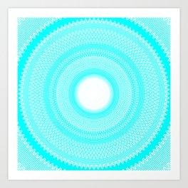 Waves v4 Art Print