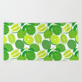Lime Harvest Beach Towel