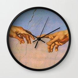 THE CREATION OF ADAM--- MICHELANGELO BUONARROTI Wall Clock