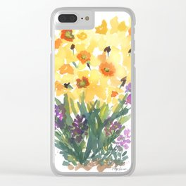 Spring Daffodil Patch Clear iPhone Case