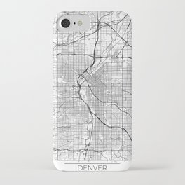 Denver Map White iPhone Case