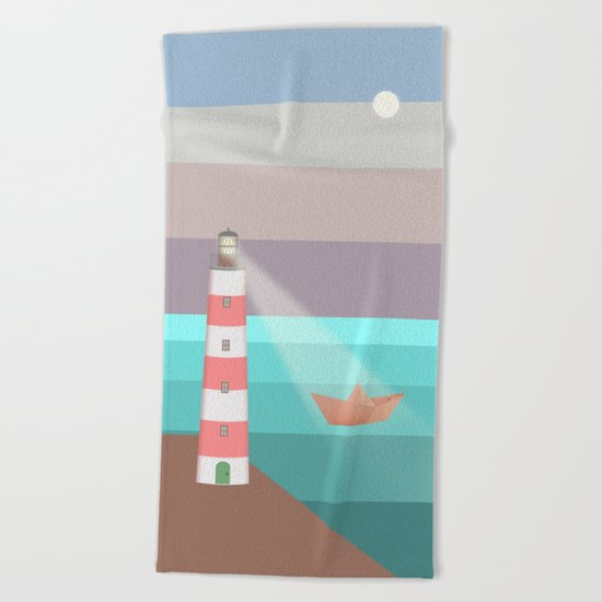 YOU ARE NOT ALONE (Origami) Beach Towel