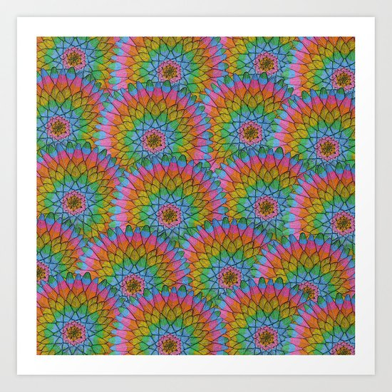 Meditaction Pattern Art Print