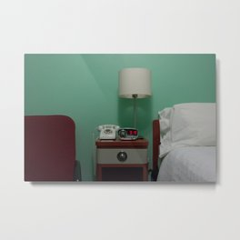 Holiday Music Motel 124 Metal Print
