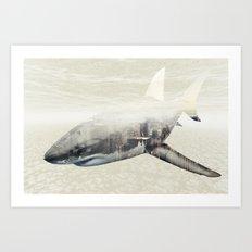 Sharks of New York Art Print