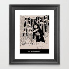 20. JUDGEMENT Framed Art Print