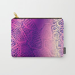 Purple Snake Skin Carry-All Pouch