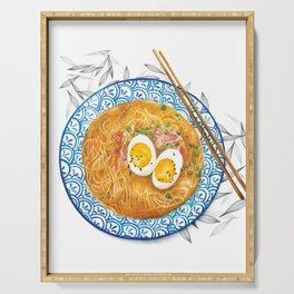 Ramen Noodles Bowl - Watercolour food illustration  Serving Tray