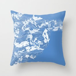 Thief of the waves Throw Pillow