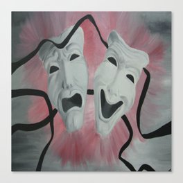 Two Face Mask Canvas Print