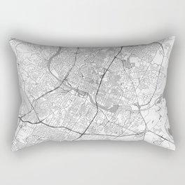 Austin Map Line Rectangular Pillow
