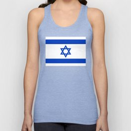 Flag of the State of Israel - High Quality Image Unisex Tank Top