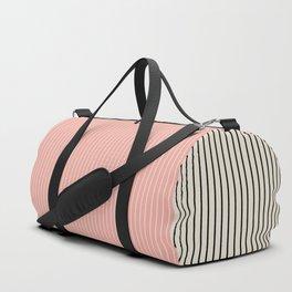 Color Block Lines XIV Vintage Pink Duffle Bag