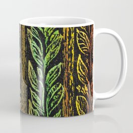 leaf red-green patern Coffee Mug