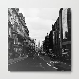 Streets of Glasgow Metal Print