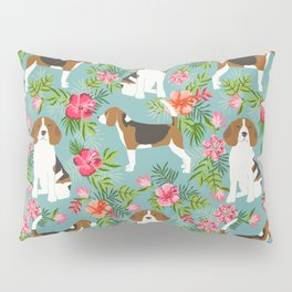 Beagle hawaiian dog pattern tropical pattern cute gifts for dog lover dog breeds Pillow Sham