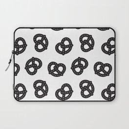 Postmodern Pretzels in Black + White Laptop Sleeve