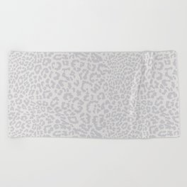 Snow Leopard Print Beach Towel
