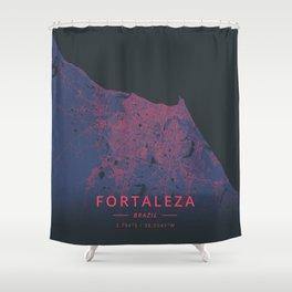 Fortaleza, Brazil - Neon Shower Curtain