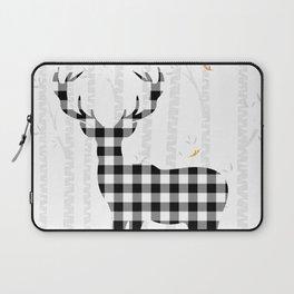 Buffalo Check Deer Laptop Sleeve
