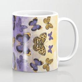 Butterfy mandala. Purple and yellow buterflies. Insect mandala Coffee Mug