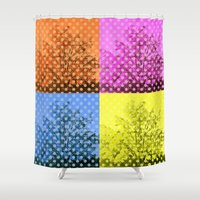 popart Shower Curtains featuring Autum popart by healinglove by Healinglove art products