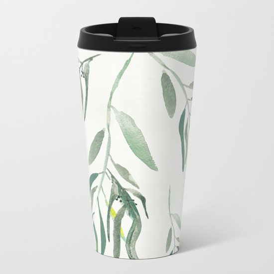 Eucalyptus Branches II Metal Travel Mug