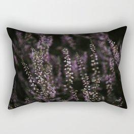 Dutch purple heather at sunset | Colourful Travel Photography | Veluwe, Holland (The Netherlands) Rectangular Pillow