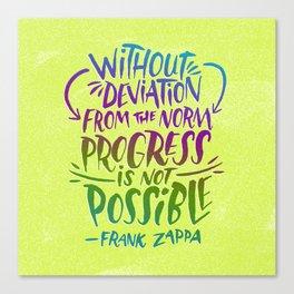 Frank Zappa on Progress Canvas Print