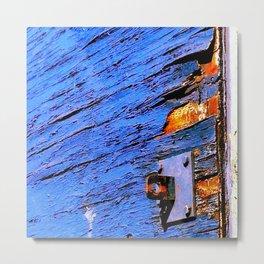 Blue Peel Metal Print
