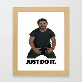 Shia LaBeouf Just Do It Framed Art Print