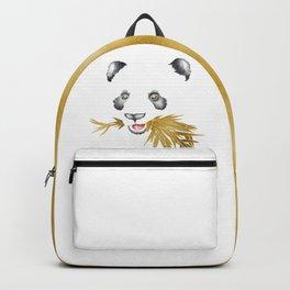 Panda Bear & Bamboo - Gold Bamboo Backpack