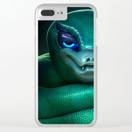 Snake Queen Clear iPhone Case