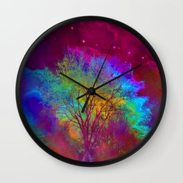 Falling into Space Wall Clock