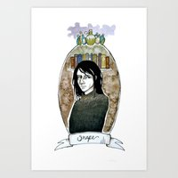 snape Art Prints featuring snape by hille