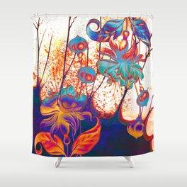 pop fuchsia Shower Curtain