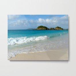 Quiet Beach in the USVI (St. John) Metal Print