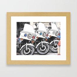 Chips Fractalius Motorbikes Framed Art Print