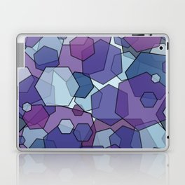 Converging Hexes - purple and blue Laptop & iPad Skin