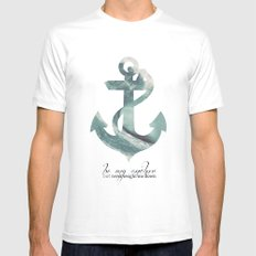 Be my Anchor MEDIUM White Mens Fitted Tee