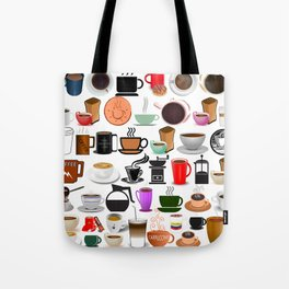 Coffee Mugs, Cups and Makers Tote Bag