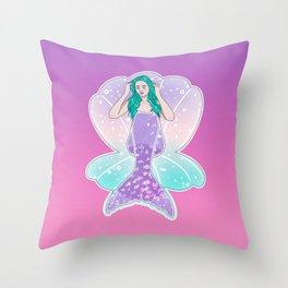 Mermaid Gradient Throw Pillow