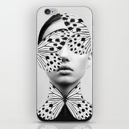 Woman Butterfly iPhone Skin