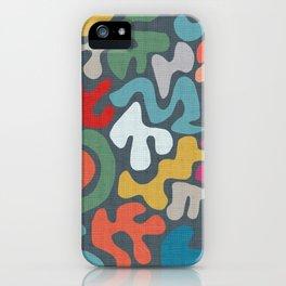 wavy patterns iPhone Case