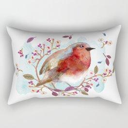 Robin - Bird Watercolor Rectangular Pillow