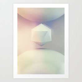 Icosahedron BETA Art Print