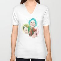 hayley williams V-neck T-shirts featuring Hayley Electric Hair by ●•VINCE•●